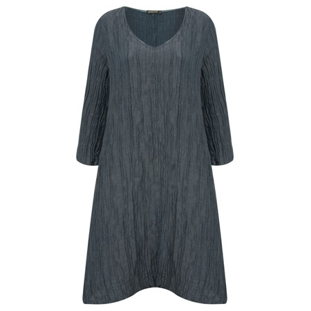 Grizas Silk Crush Tunic Dress - Blue