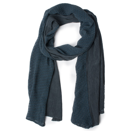 Grizas Devore Spot Two Tone Scarf - Blue