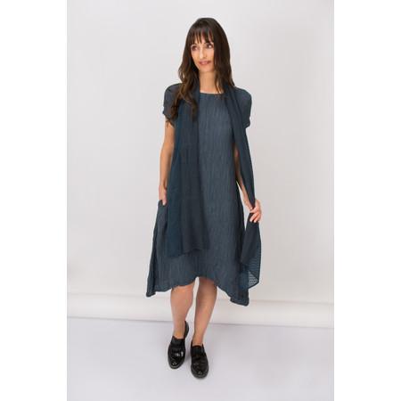 Grizas Crinkle A-Line Dress - Blue