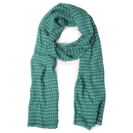 Grizas Oliato Silk Check Scarf - Green