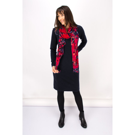 Sandwich Clothing Blurred Dot Print Scarf - Red