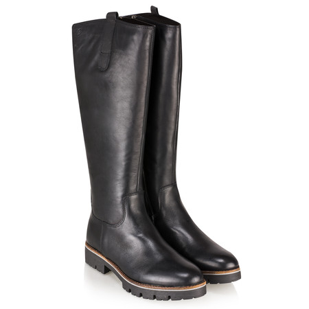 Caprice Footwear Leni Long Leather Boot - Black