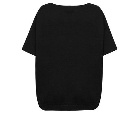 Lauren Vidal Oversized Side Zip Detail Knit - Black