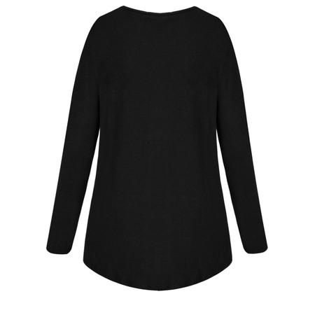 Lauren Vidal Roz Zip Detail Jumper - Black