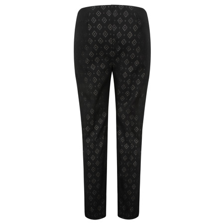 Lauren Vidal Joy Diamond Print Trousers - Black
