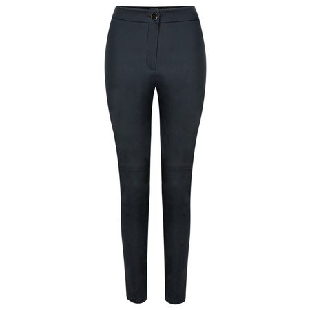 Lauren Vidal Aspen Leather Look Jacquard Trousers - Blue