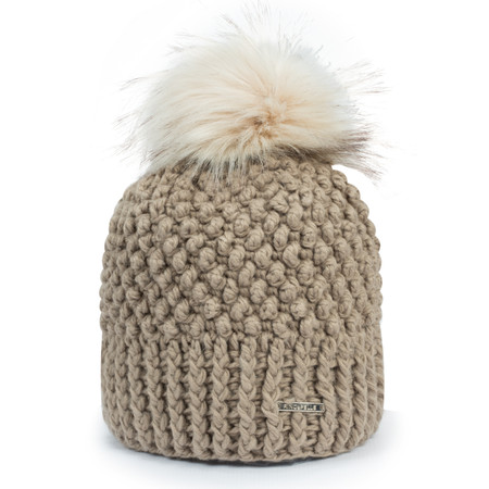RINO AND PELLE Kevina Bobble Hat - Brown