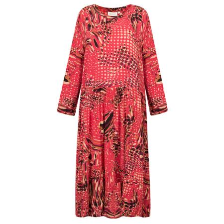 Masai Clothing Nila Printed Pink Dress - Red