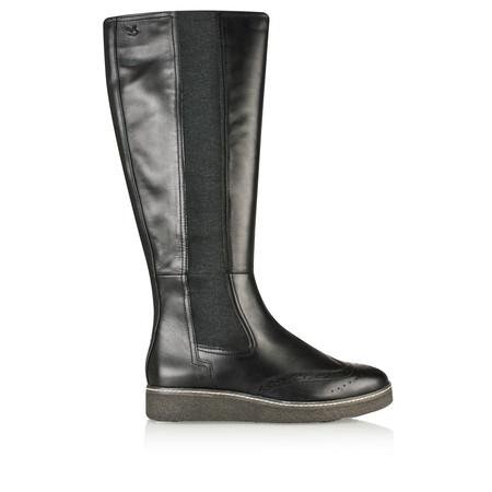 Caprice Footwear Mila Leather Boot - Black