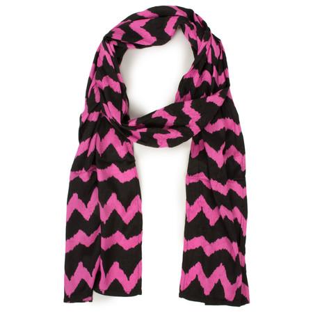 Masai Clothing Rosebud Zigzag Along Scarf - Pink