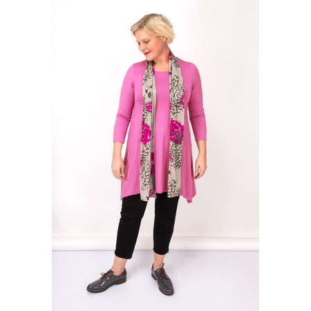 Masai Clothing Rosebud Floral Along Scarf - Pink