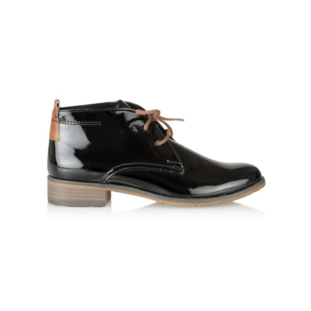 Marco Tozzi Magdelena Imit Patent Leather Boot - Black