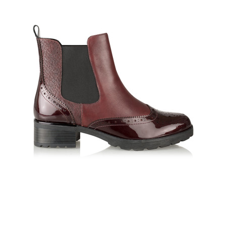 Caprice Footwear Nina Brogue Chelsea Boot - Purple