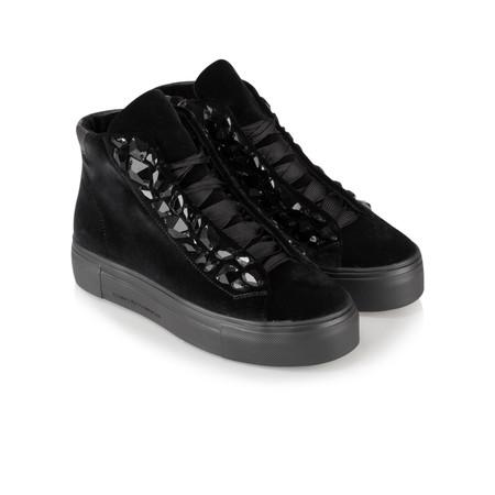 Kennel Und Schmenger Big Velvet Luxe High Top Trainer Shoe - Black