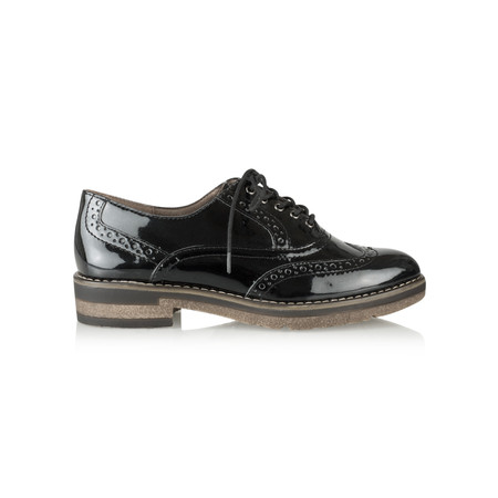 Tamaris  Myrine Lace Up Shoe - Black