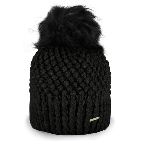 RINO AND PELLE Kevina Bobble Hat - Black