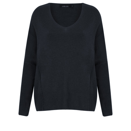 Lauren Vidal Roz Easy Fit V Neck Jumper - Blue