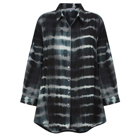 Sahara Tie Dye Check Shirt - Beige