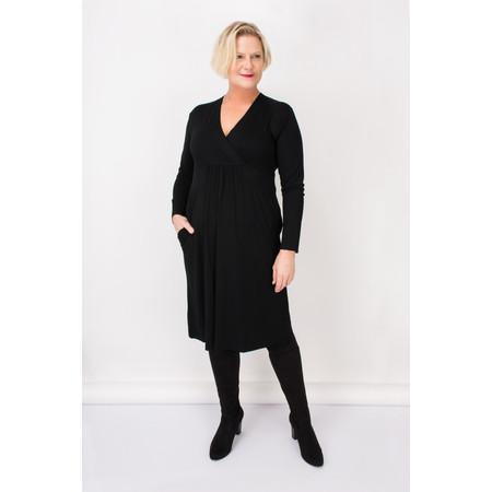 Masai Clothing Ninki V-neck Jersey Dress - Black