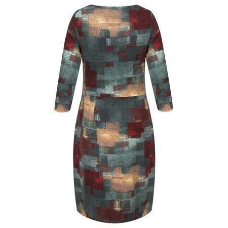 Smashed Lemon Abstract Printed Dress - Blue