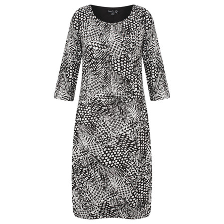Smashed Lemon Monochrome Printed Dress - Black