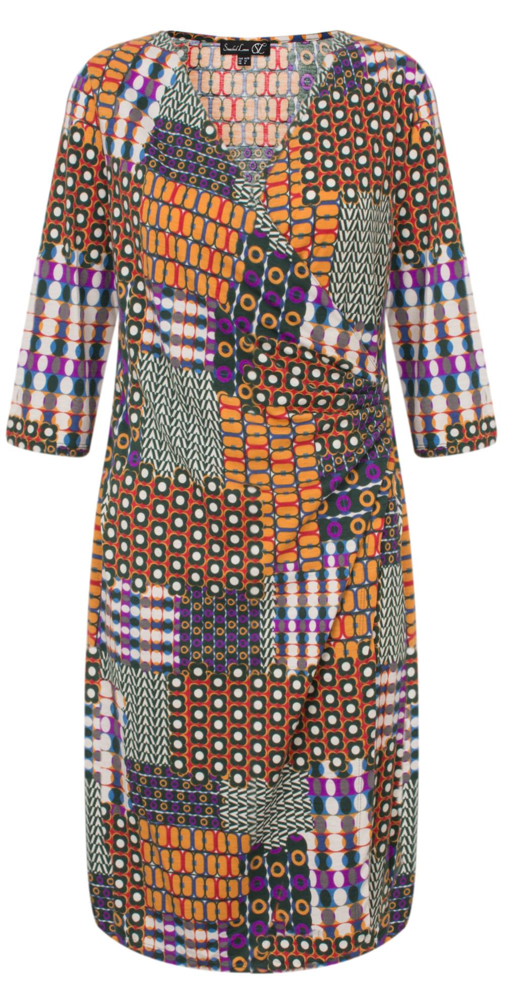 Patchwork Printed Dress main image