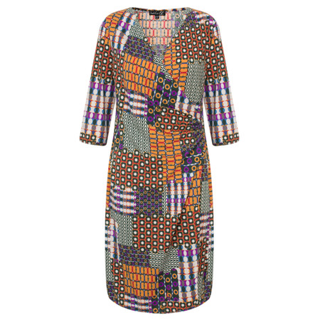 Smashed Lemon Patchwork Printed Dress - Multicoloured