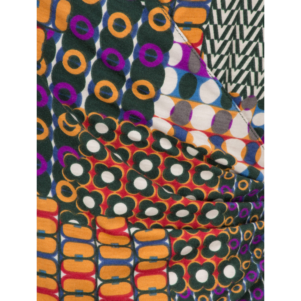 Smashed Lemon Patchwork Printed Dress Multicolour