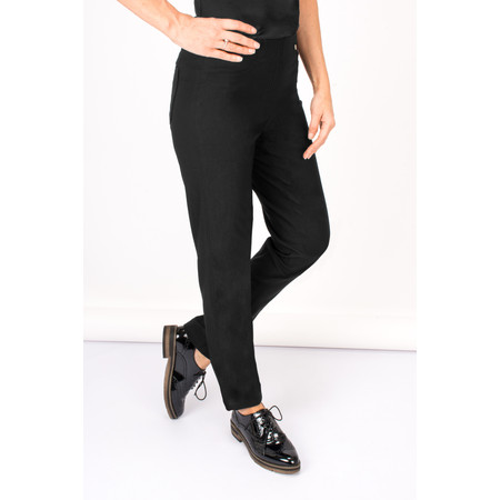 Robell Trousers Bella Winter Bengaline Stretch Trouser - Black