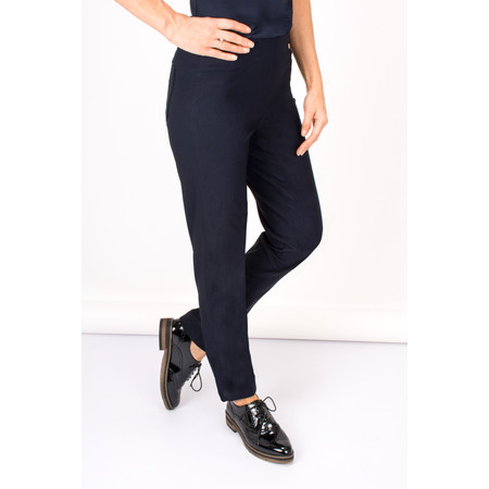 Robell Trousers Bella Bengaline Lined Full Length Trouser - Blue