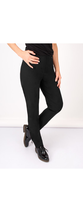 Robell Trousers Marie Bengalin Trouser Black