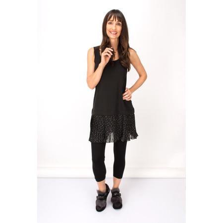 Myrine Ammit Chiffon Dot Tunic Dress - Black