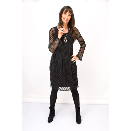 Myrine Jupiter Dot Dress - Black