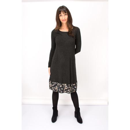 Myrine Brahma Floral Jersey Dress  - Black