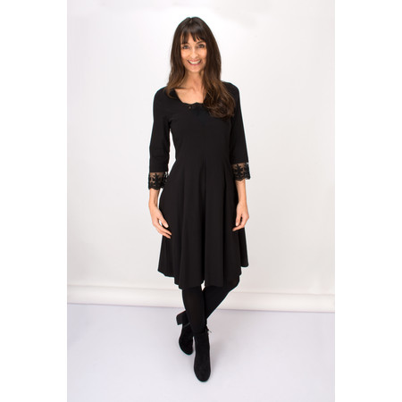 Myrine Elise Comfort Cotton Dress - Black