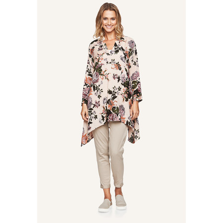 Masai Clothing Grith Floral Print Tunic - Brown