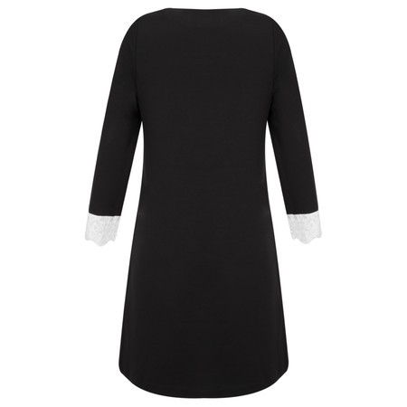 French Connection Lula Stretch Slash Neck Tunic Dress - Black