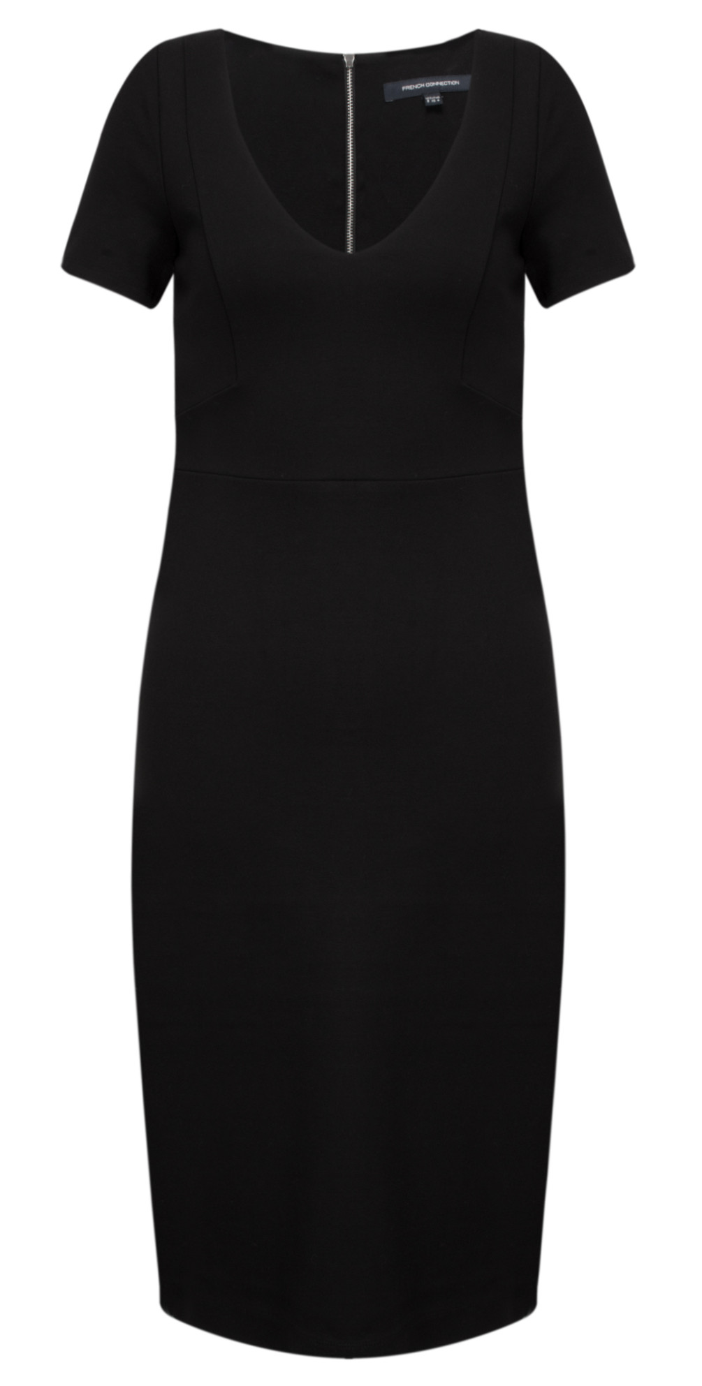 6f2e9b29def French Connection Lula Stretch V Neck Dress in Black