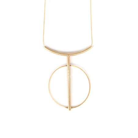 Dansk Smykkekunst Tabitha String Circle Necklace - Metallic