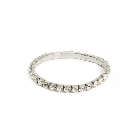 Dansk Smykkekunst Crystal Elastic Bracelet - Metallic