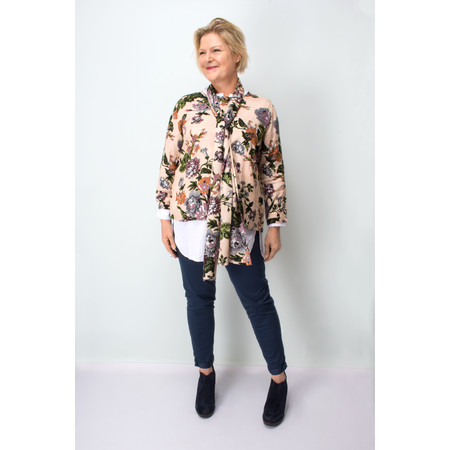 Masai Clothing Bethel Floral Print Top - Brown