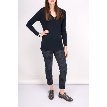 Lauren Vidal Aspen Jacquard Trousers - Blue