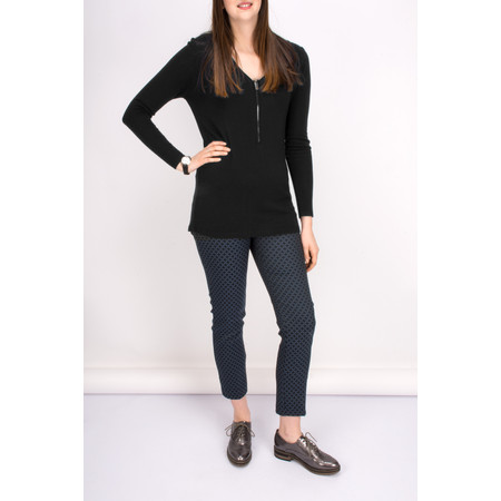 Lauren Vidal Roz Zip Detail Jumper - Black