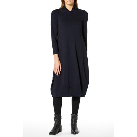 Sahara Crinkle Crepe Jersey Soft Bubble Dress - Blue