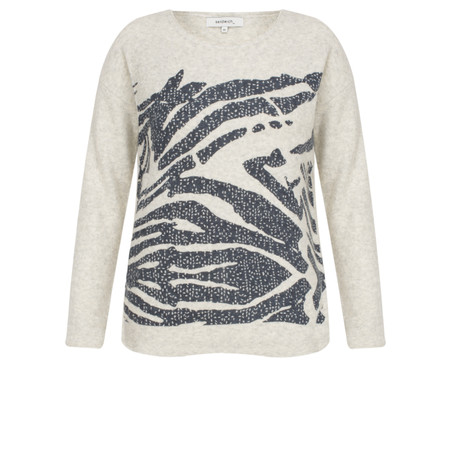 Sandwich Clothing Abstract Animal  Print Jumper - Beige