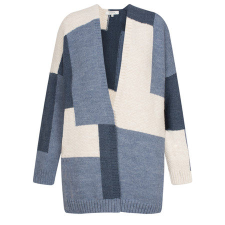 Sandwich Clothing Patchwork Print Knit Cardigan - Grey