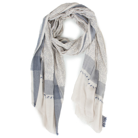 Sandwich Clothing Multi Print Wool Scarf - Beige