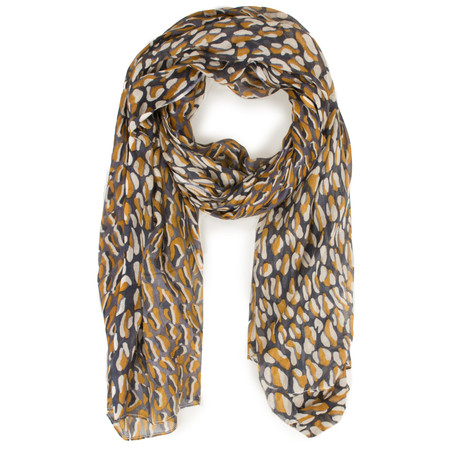 Sandwich Clothing Abstract Animal Print Woven Scarf - Grey