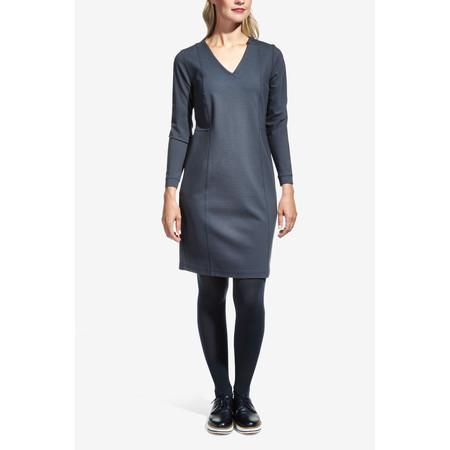 Sandwich Clothing Zip Shoulder Jersey Dress - Grey