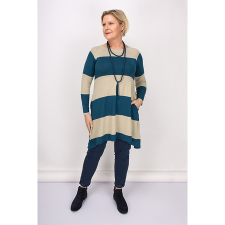 Masai Clothing Striped Godivis Tunic - Purple